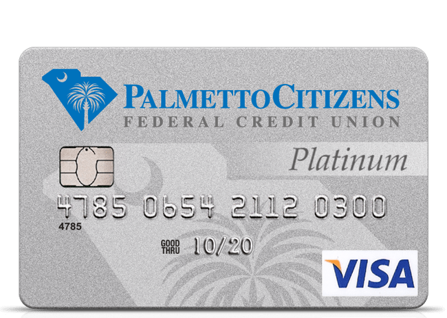 Visa Credit Card Login >> Visa Credit Cards From Palmetto Citizens